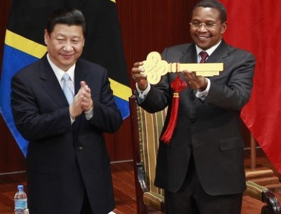 tz china President Kikwete with China President XI Jinping during official visit2